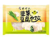朱老大韭菜豆腐水饺450g