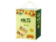 起成果园猴菇养生奶绿手提袋