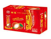 雨瑞红毛丹果粒果汁饮料箱装