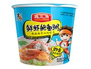 珠三角鲜虾鲍鱼粥桶装