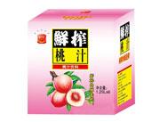 悦汁恋鲜榨桃汁饮料1.25Lx6