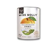 莫莉果园黄桃罐头425克