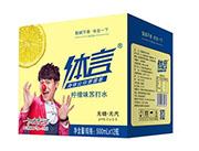 体言柠檬味苏打水饮料500mlx12瓶