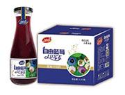 自由蓝莓果汁饮料1Lx6瓶