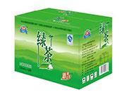 光辉绿茶箱装