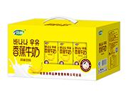 浩明香蕉牛奶风味饮料开窗礼盒