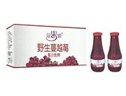 蓝果源野生蔓越莓果汁饮料350mlx8瓶