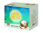 强人泰式鲜榨椰子汁1L×8瓶