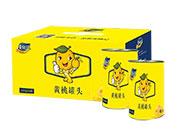 沫含黄桃记黄桃罐头425gx8罐