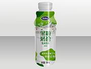 完达山果粒奶珍发酵型乳味饮料280ml绿