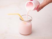 千家赞迷你奶味饮品草莓味展示