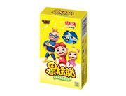 铠乐动漫猪猪侠果炫脆香蕉味造型曲奇饼干50g