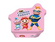 铠乐动漫红小屋奶油味曲奇饼干100g(粉)