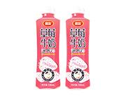 团友草莓牛奶果味饮料500ml