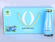 淇果庄园蓝莓桑葚枸杞复合鸡尾果汁310ml×10瓶