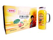 新雨瑞芒果汁饮料988ml×6瓶