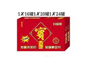 金罐凉茶礼品装1x16罐x20罐x24罐