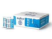 青海大牧场纯牛奶16包*200g展示