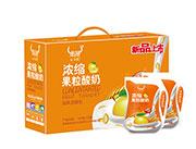 �饪s果粒酸奶�L味�l酵乳180克*12袋展示