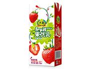 大地甜蜜草莓果优乳乳饮品250g