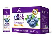 林海湾鲜榨蓝莓汁饮料1L×6瓶
