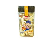 卡通世界飞猪侠松脆蘑菇力桔子味128g