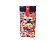 卡通世界�w�i�b松脆蘑菇力草莓味128g