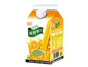 中橙鲜榨橙汁500克