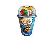 乐彩猫杯造型饼干牛奶味+多款玩具40g(蓝)