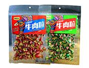 皇廷食品孔雀之乡牛肉粒100g香辣味五香味