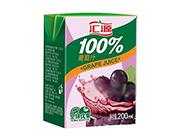 汇源果汁葡萄汁饮料200ml