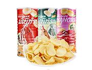 manora玛努拉虾味木薯片-虾片蟹片-马努拉100g_3罐