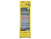 饮品展柜华丽黄