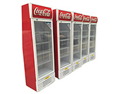 饮品展柜红展示