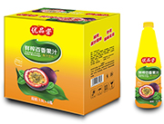 优品营鲜榨百香果汁饮料1.5L×6瓶