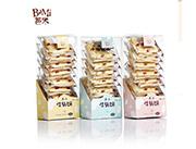 【芭米】牛扎饼海苔味香葱味奶盐味148g袋装休闲零食