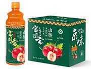 宝圆斋京味无蔗糖山楂果肉饮料1L×6瓶