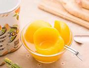 优质新鲜水果黄桃罐头