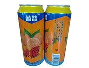 蓝�幢�橙果味型碳酸饮料490ml
