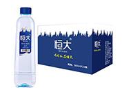 恒大苏打水饮料原味500mlx24瓶