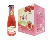鹏达果缘草莓汁饮料1.5Lx6瓶