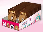 卡通世界巧克力味装饰饼干盒装