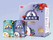 光明莫斯利安甄选果粒蓝莓草莓味195gX10盒