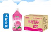 四季阳光 冰糖蜜桃果汁饮料 1L×8瓶
