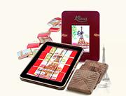 法国原装进口克勒司巴黎铁塔70%黑巧克力浪漫情人礼盒