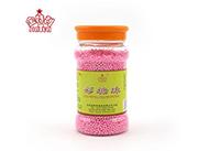 金特利蛋糕装饰粉色彩糖珠140g