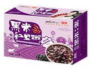 �O智紫薯黑米�t豆粥320g箱�b