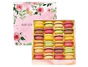 玛呖德法式马卡龙甜点花饰礼盒