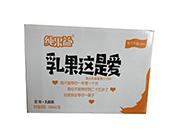 纯果益乳果这是爱甜橙+乳酸菌复合果汁饮料330mlX12瓶