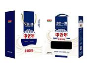 江中一源中老年金牌牧场风味饮品250mlx12盒礼盒